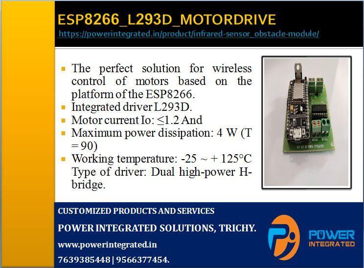 ESP8266 (NODEMCU) WITH L293D MOTOR DRIVE.